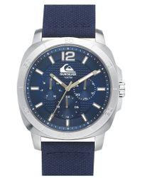 Quiksilver - 'the Drifter' Multifunction Woven Strap Watch - Lyst