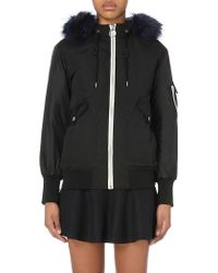 Izzue - Hooded Faux Fur-trim Shell Jacket - Lyst