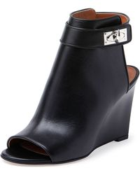 Givenchy Shark-Lock Wedge Bootie - Lyst
