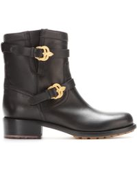 Valentino Animalia Leather Biker Boots - Lyst