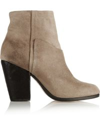 Rag & Bone Kendall Waxed Suede Ankle Boots - Lyst