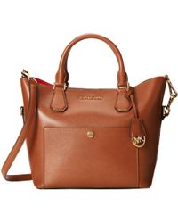MICHAEL Michael Kors Greenwich Large Grab Bag brown - Lyst