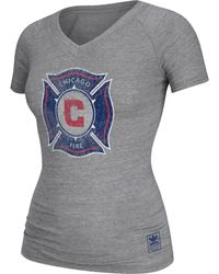 Adidas Womens Chicago Fire Supersize Tshirt - Lyst