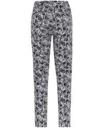 Reiss Olivia Monochrome Print Trousers - Lyst