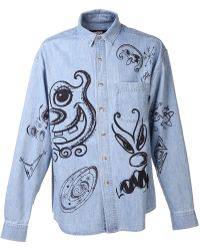 Jeremy Scott Denim Shirt - Lyst
