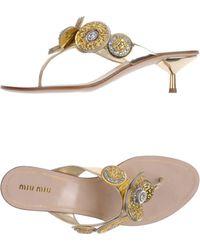 Miu Miu Thong Sandal - Lyst