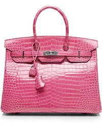 Heritage Auctions Special Collection Hermes 35cm Rose Tyrien Shiny Porosus Birkin - Lyst