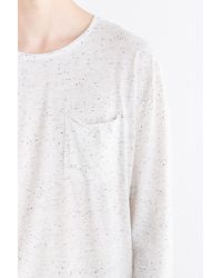 Feathers - Curved Hem Long-sleeve Tee - Lyst