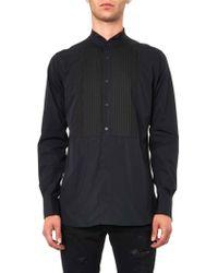 Saint Laurent Bibfront Cotton Shirt - Lyst