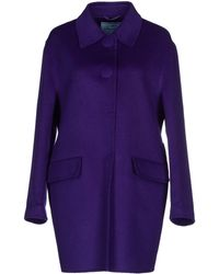 Prada Full-Length Jacket purple - Lyst