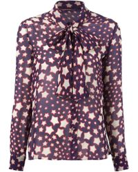 Saint Laurent Star Print Shirt - Lyst