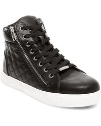 Steve Madden Decaf Quilted Lace-Up Sneakers - Lyst