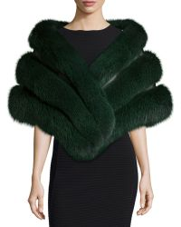 Gorski - Fox Fur Stole With Leather Insets - Lyst