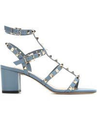 Valentino Rockstud Leather Sandals - Lyst
