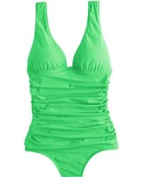 J.Crew Ruched Femme One-Piece Swimsuit - Lyst