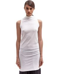 Rick Owens Womens Raglan Woven Cotton Tunic Top - Lyst