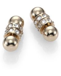 Givenchy Double Crystal-Pearl Earrings - Lyst