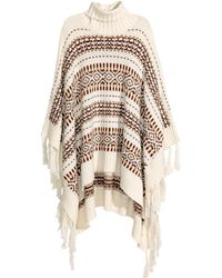 H&M   Jacquard-knit Poncho   Lyst