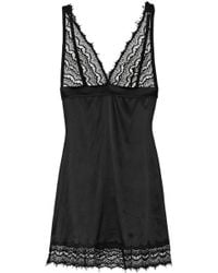 Mimi Holliday by Damaris Bisou Pearl Stretch Silk and Lace Chemise - Lyst