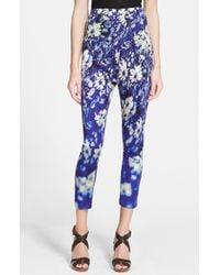 Jean Paul Gaultier Floral Jersey Leggings - Lyst