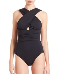Michael Kors | One-piece Crossover Swimsuit | Lyst