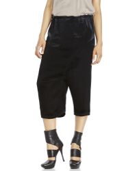 Ann Demeulemeester Black Olympus Cropped Trousers black - Lyst