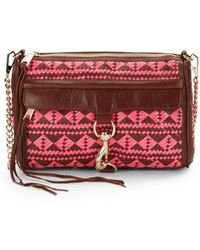 Rebecca Minkoff Mac Woven Leather Clutch - Lyst