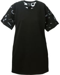 McQ by Alexander McQueen Sheer Lettered T-Shirt Dress - Lyst