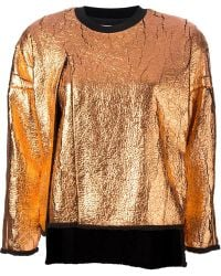 3.1 Phillip Lim Metallic Sweatshirt - Lyst