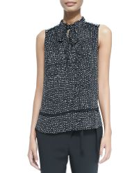 Proenza Schouler Sleeveless Tie-neck Blouse - Lyst