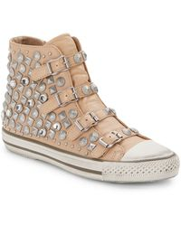 Ash Victim Studded Leather High-top Sneakers - Lyst