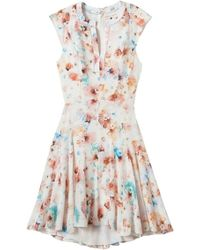 Rebecca Taylor Poppy Godet Dress - Lyst