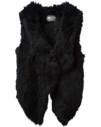 Meteo By Yves Salomon Asymmetric Fur Gilet - Lyst