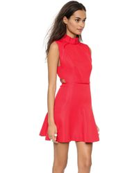 Camilla & Marc Vaporware Sharkskin Dress Scarlet Red - Lyst