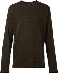 Issey Miyake Corrugated Stripe Sweater - Lyst