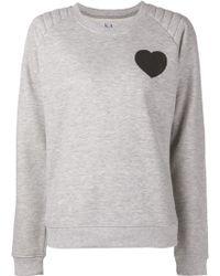 Zoe Karssen Heart Graphic Sweatshirt - Lyst