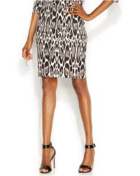 Inc International Concepts Animal-Print Pencil Skirt - Lyst