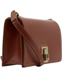 Lanvin - Brown Rigid Leather Bag - Lyst