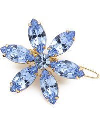 Dauphines of New York - Flower Garden Barrette - Blue - Lyst