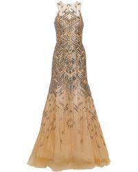 Lela Rose Beaded Tulle Gown - Lyst