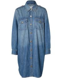 Current/Elliott Denim Shirt-dress - Lyst