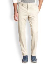 Acne Studios Rylan Twill Trousers beige - Lyst