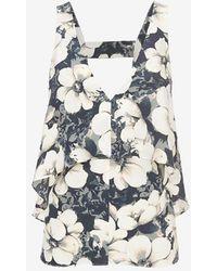 Exclusive For Intermix Leah Flutter Top floral - Lyst