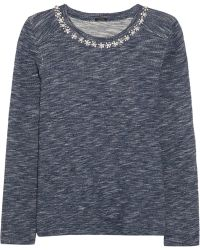 J.Crew | Crystalembellished Cottonterry Sweatshirt | Lyst