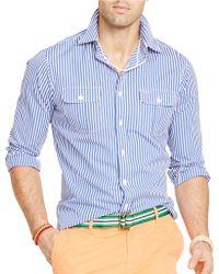 Polo Ralph Lauren Striped Poplin Workshirt - Lyst