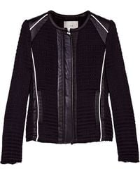 Iro Giana Black Jacket with White Trim - Lyst