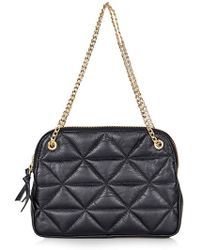 Topshop   Quilted Leather Shoulder Bag   Lyst