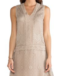 Anna Sui Wild Rose Crochet Lace Dress - Lyst