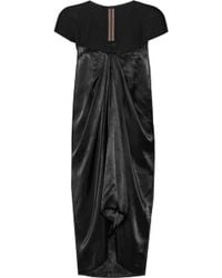 Rick Owens Anthena Draped Satin and Crepe Dress - Lyst