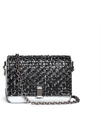 Proenza Schouler 'Ps Courier' Small Interwoven Leather Bag multicolor - Lyst